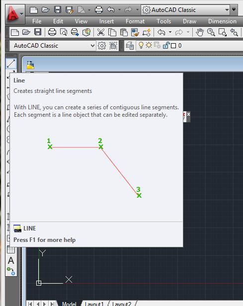 आप Draw Tools में से Line select करो या L-Enter Command दो उसके बाद आप Drawing Area में कही भी Line Draw कर सकते हो