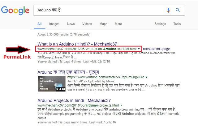 Improve Permalink Structure For Seo in hindi