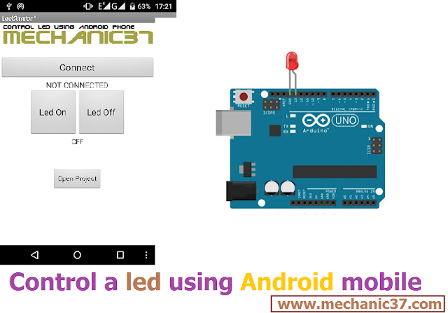 Control A Led using Android in hindi tutorial