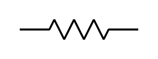 Symbol of a resistor