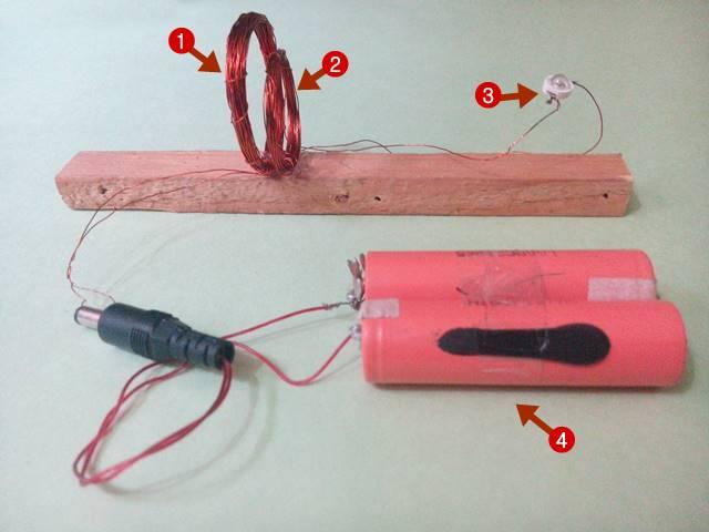 wireless electricity के लिए circuit बनाएं