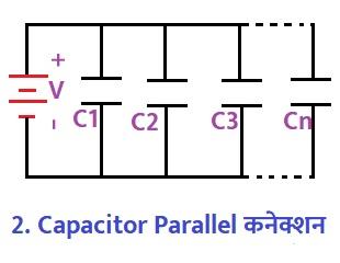 Capacitor Parallel कनेक्शन
